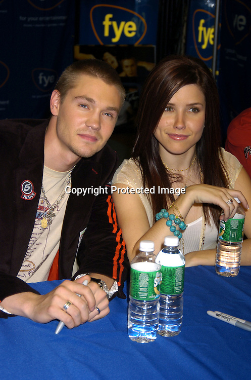 Chad Michael Murray, Sophia Bush..at an in-store signing with the cast of One Tree Hill for their..new CD and DVD at FYE Music Store  in New York City on January 25, 2005. ..Photo by Robin Platzer, Twin Images