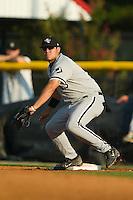 Bristol first baseman Jorge Andrade (13) waits for a throw versus Burlington at Burlington Athletic Park in Burlington, NC, Thursday, July 12, 2007.