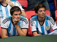 Dejected Argentina fans
