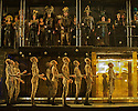 """EMBARGOED UNTIL 7:30pm FRIDAY 4th MARCH 2016: London, UK. 02.03.2016. English National Opera presents """"Akhnaten"""", composed by Philip Glass, and directed by Phelim McDermott. Picture shows: Skills ensemble Gandini Juggling and chorus. Photograph © Jane Hobson."""