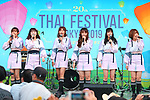 Girl pop group BNK48 performs during the Thai Festival 2019 at Yoyogi Park in Tokyo, Japan on May 12, 2019. (Photo by AFLO)