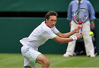 26-06-13, England, London,  AELTC, Wimbledon, Tennis, Wimbledon 2013, Day three, Sergly Stakhovsky (UKR)<br /> <br /> <br /> <br /> Photo: Henk Koster