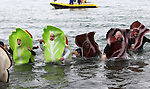 Parts of a BLT joined more than 500 people who participated in the Freezin' for a Reason Polar Plunge, a fundraiser for Special Olympics at Zephyr Cove on Saturday, March 19, 2011. The water temperature at the time was approximately 40 and the air temperature was 31..Photo by Cathleen Allison