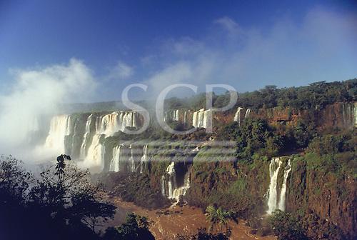 Iguassu Falls, Parana State, Brazil. View of the waterfalls.