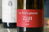 Cuvee La Preceptorie Zoe 2004. Domaine de la Rectorie. Roussillon. France. Europe. Bottle.