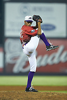 South Division pitcher Bernardo Flores (32) of the Winston-Salem Dash in action during the 2018 Carolina League All-Star Classic at Five County Stadium on June 19, 2018 in Zebulon, North Carolina. The South All-Stars defeated the North All-Stars 7-6.  (Brian Westerholt/Four Seam Images)