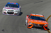 Monster Energy NASCAR Cup Series<br /> Toyota Owners 400<br /> Richmond International Raceway, Richmond, VA USA<br /> Sunday 30 April 2017<br /> Daniel Suarez, Joe Gibbs Racing, ARRIS Toyota Camry and Chris Buescher, JTG Daugherty Racing, KingsFord Fusion Chevrolet SS <br /> World Copyright: Russell LaBounty<br /> LAT Images<br /> ref: Digital Image 17RIC1Jrl_6229