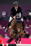Mark McAuley and his horse Vivaldi du Theil during Madrid Horse Week at Ifema in Madrid, Spain. November 26, 2017. (ALTERPHOTOS/Borja B.Hojas)