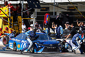 Monster Energy NASCAR Cup Series<br /> Brickyard 400<br /> Indianapolis Motor Speedway, Indianapolis, IN USA<br /> Sunday 23 July 2017<br /> Martin Truex Jr, Furniture Row Racing, Auto-Owners Insurance Toyota Camry pit stop<br /> World Copyright: Russell LaBounty<br /> LAT Images