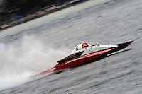 "13-14 June, 2009, APBA Inboards, Walled Lake, Novi, MI. USA.Tom Thompson, A-52 ""Fat Chance IV"", 2.5 Mod hydroplane.©F. Peirce Williams 2009 USA.F.Peirce Williams.photography.ref: RAW (.NEF) File Available"