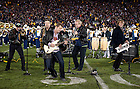 November 19, 2011; The legendary rock band, Chicago performs with Notre Dame marching band during halftime. Photo by Barbara Johnston/University of Notre Dame.