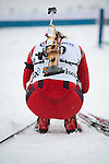 MARTELL-VAL MARTELLO, ITALY - FEBRUARY 02: Norwegian athlete after the Women 7.5 km Sprint at the IBU Cup Biathlon 6 on February 02, 2013 in Martell-Val Martello, Italy. (Photo by Dirk Markgraf)