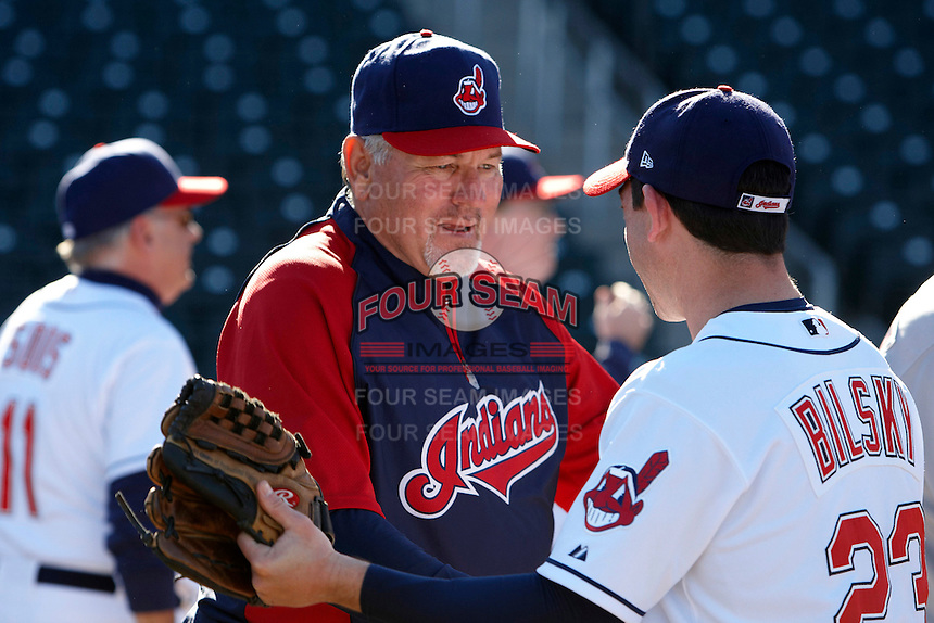 Former major league first baseman and manager Mike Hargrove after a campers vs pros game at the Cleveland Indians Fantasy Camp at Goodyear Stadium on January 19, 2012 in Goodyear, Arizona.  (Mike Janes/Four Seam Images)
