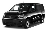 2020 Peugeot Partner Premium Long 4 Door Car van angular front stock photos of front three quarter view