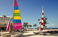 Colorful sailboats on the beach. sailboat, boat, boats. Florida, Florida Keys.