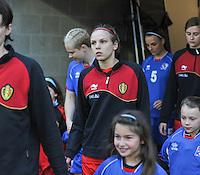 Qualification Women's Euro 2013 - Belgium - Iceland ; Belgie - Ijsland ; Armand Melis Stadion Dessel :.Lorca Van de Putte.foto DAVID CATRY / Vrouwenteam.be
