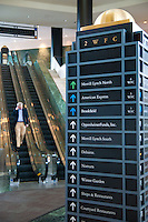 WFC navigation stand with firms names