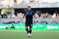 SAN JOSE, CA - SEPTEMBER 29: Guram Kashia #37 of the San Jose Earthquakes during a Major League Soccer (MLS) match between the San Jose Earthquakes and the Seattle Sounders on September 29, 2019 at Avaya Stadium in San Jose, California.