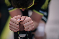 Luke Durbridge's (AUS/Mitchelton Scott) pre-race warm-up<br /> <br /> Stage 3 (Team Time Trial): Cholet > Cholet (35km)<br /> <br /> 105th Tour de France 2018<br /> ©kramon