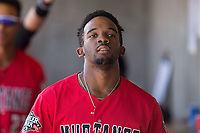 J.D. Salmon-Williams (8) of the Billings Mustangs during the game against the Missoula Osprey at Dehler Park on August 20, 2017 in Billings, Montana.  The Osprey defeated the Mustangs 6-4.  (Brian Westerholt/Four Seam Images)