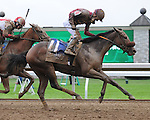 October 4, 2014:  Peace and War and jockey Julien Leparoux win the Darley Alcibiades at Keeneland for owner Qatar Racing and trainer Olly Stevens.Jessica Morgan/ESW/CSM