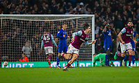 Jack Grealish of Aston Villa celebrates scoring his side's winning goal during the Sky Bet Championship match between Aston Villa and Cardiff City at Villa Park, Birmingham, England on 10 April 2018. Photo by Mark  Hawkins / PRiME Media Images.