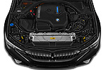 Car Stock 2021 BMW 3-Series-Touring-PHEV M-Sport 5 Door Wagon Engine  high angle detail view
