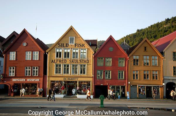 Tyskebrygga ( German bridge ) tourist attraction in Bergen Norway