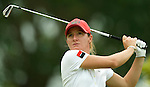 SINGAPORE - MARCH 07:  Gwladys Nocera of France tees off on the par five 5th hole during the third round of HSBC Women's Champions at the Tanah Merah Country Club on March 7, 2009 in Singapore. Photo by Victor Fraile / The Power of Sport Images