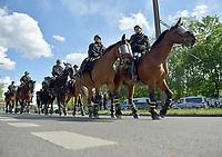 17th May 2020,Stadion An der Alten Försterei, Berlin, Germany; Bundesliga football, FC Union Berlin versus Bayern Munich; Police Riding horses for security measures