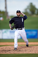 Detroit Tigers pitcher Drake Britton (66) delivers a pitch during an exhibition game against the Florida Southern Moccasins on February 29, 2016 at Joker Marchant Stadium in Lakeland, Florida.  Detroit defeated Florida Southern 7-2.  (Mike Janes/Four Seam Images)