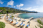 France, Provence-Alpes-Côte d'Azur, Beaulieu-sur-Mer: beach at Baie des Fourmis | Frankreich, Provence-Alpes-Côte d'Azur, Beaulieu-sur-Mer: Strand an der Baie des Fourmis