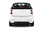 Straight rear view of 2016 Smart fortwo electric 2 Door Convertible Rear View  stock images