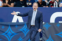 CARSON, CA - JUNE 19: Seattle Sounders manager Brian Schmetzer giving directions during a game between Seattle Sounders FC and Los Angeles Galaxy at Dignity Health Sports Park on June 19, 2021 in Carson, California.