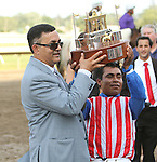 July 27, 2014: Bayern with Martin Garcia win the 47th running of the Grade I Haskell Stakes for 3-year olds going 1 1/4 mile, at Monmouth Park. Trainer: Bob Baffert. Owner: Kaleem Shah, Inc.. Sue Kawczynski/ESW/CSM