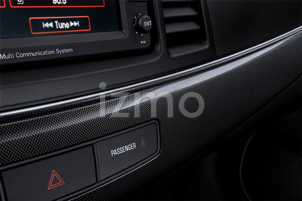 Carbon Fiber Dashboard Trim of a 2010 Mitsubishi Lancer Sportback