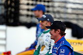 Verizon IndyCar Series<br /> Indianapolis 500 Qualifying<br /> Indianapolis Motor Speedway, Indianapolis, IN USA<br /> Monday 22 May 2017<br /> Scott Dixon, Chip Ganassi Racing Teams Honda poses for front row photos<br /> World Copyright: Phillip Abbott<br /> LAT Images<br /> ref: Digital Image abbott_indyQ_0517_21398