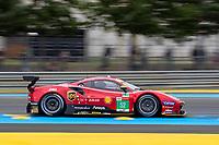 #52 AF Corse Ferrari 488 GTE EVO LMGTE Pro, Daniel Serra, Miguel Molina, Sam Bird, 24 Hours of Le Mans , Free Practice 1, Circuit des 24 Heures, Le Mans, Pays da Loire, France