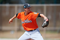 Miami Marlins pitcher Chris Mazza (47) during a Minor League Spring Training Intrasquad game on March 27, 2018 at the Roger Dean Stadium Complex in Jupiter, Florida.  (Mike Janes/Four Seam Images)