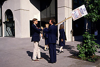 Undated File Photo - Air Canada employees on strike in Montreal, Canada.