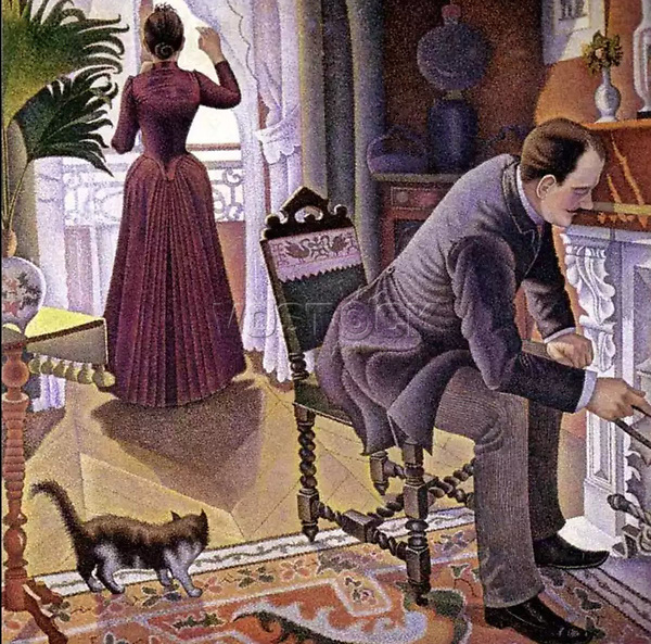 Dimanche<br /> Paul Signac (1863–1935)<br /> oil on canvas, between 1888 and 1890<br /> Private collection