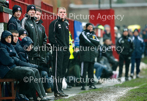 Brechin v St Johnstone....12.03.11  Scottish Cup Quarter Final.Jim Weir looks on.Picture by Graeme Hart..Copyright Perthshire Picture Agency.Tel: 01738 623350  Mobile: 07990 594431