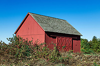 Rustic red barn, Redding, Connecticut, USA.