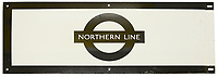 BNPS.co.uk (01202) 558833. <br /> Pic: CatherineSouthonAuctioneers/BNPS<br /> <br /> Pictured: A second London Underground enamel station frieze sign for 'Northern Line' is expected to sell for £160. <br /> <br /> Two rare London Underground signs for a branch of the Northern Line that was never built have emerged for sale more than 80 years later.<br /> <br /> Work had started on the Bushey Heath extension in 1939 but was suspended due to the outbreak of the Second World War and the land was used for farming vegetables instead,<br /> <br /> Despite the fact it never got beyond groundworks and tunnelling, signs were made detailing the new extension stations.<br /> <br /> Two signs which list the three stations planned for the extension - Brockley Hill, Elstree South and Bushey Heath - have now emerged for sale from a large single owner railway collection and are expected to fetch £2,100.