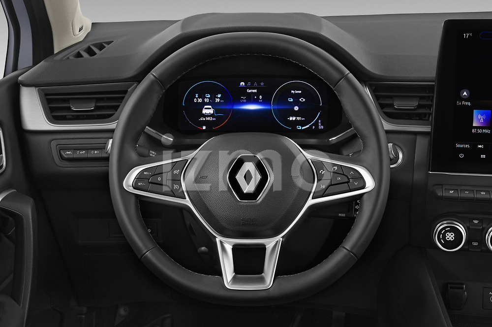 Car pictures of steering wheel view of a 2020 Renault Captur E-Tech-First 5 Door SUV Steering Wheel