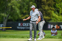 4th July 2021, Detroit, MI, USA;  Mark Anderson (USA) after sinking his birdie putt on 1 during the Rocket Mortgage Classic Rd4 at Detroit Golf Club on July 4,