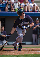 11 March 2014: New York Yankees first baseman Mark Teixeira in action during a Spring Training game against the Washington Nationals at Space Coast Stadium in Viera, Florida. The Nationals defeated the Yankees 3-2 in Grapefruit League play. Mandatory Credit: Ed Wolfstein Photo *** RAW (NEF) Image File Available ***