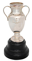 BNPS.co.uk (01202 558833)<br /> Pic: Julien'sAuctions/BNPS<br /> <br /> Pictured: Alfredo Di Stefano 1957 Real Madrid UEFA European Champions Cup Miniature Reproduction Trophy.<br /> <br /> An epic collection of medals, trophies, shirts and personal items relating to footballing legend Alfredo Di Stefano is being sold by his family for over £1m.<br /> <br /> Many of the awards won by the great goalscorer have, until recently, been on display at the Real Madrid Museum, the club where he played for most of his career.<br /> <br /> The Argentine-born striker is regarded as one of the best players of all-time and is often compared to Cristiano Ronaldo.<br /> <br /> During Di Stafano's time with Real Madrid in the 1950s and '60s, the Spanish giants dominated European football, largely due to his goals and assists.