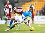 St Johnstone v RangersÖ21.05.17     SPFL    McDiarmid Park<br /> Steven MacLean is fouled by Jon Toral<br /> Picture by Graeme Hart.<br /> Copyright Perthshire Picture Agency<br /> Tel: 01738 623350  Mobile: 07990 594431