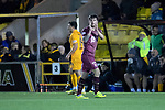 Livingston v St Johnstone…31.10.18…   Tony Macaroni Arena    SPFL<br />Matty Kennedy applauds the travelling saints fans as he is subbed<br />Picture by Graeme Hart. <br />Copyright Perthshire Picture Agency<br />Tel: 01738 623350  Mobile: 07990 594431
